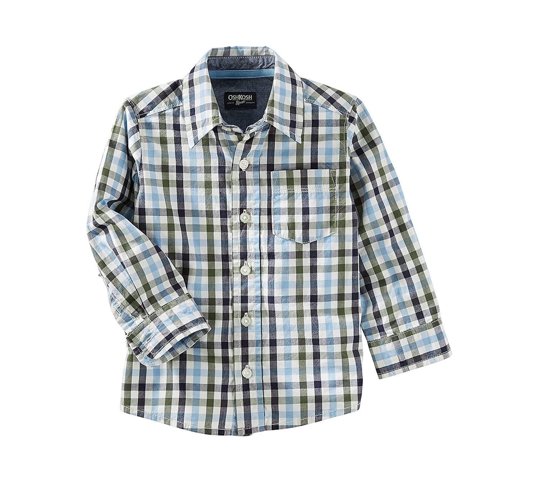 OshKosh BGosh Boys 2T-7 Long Sleeve Woven Shirt
