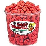 Haribo Primavera Erdbeeren, große Dose - Fruchtgummi - Schaumgummi - Dose mit 150 Stück