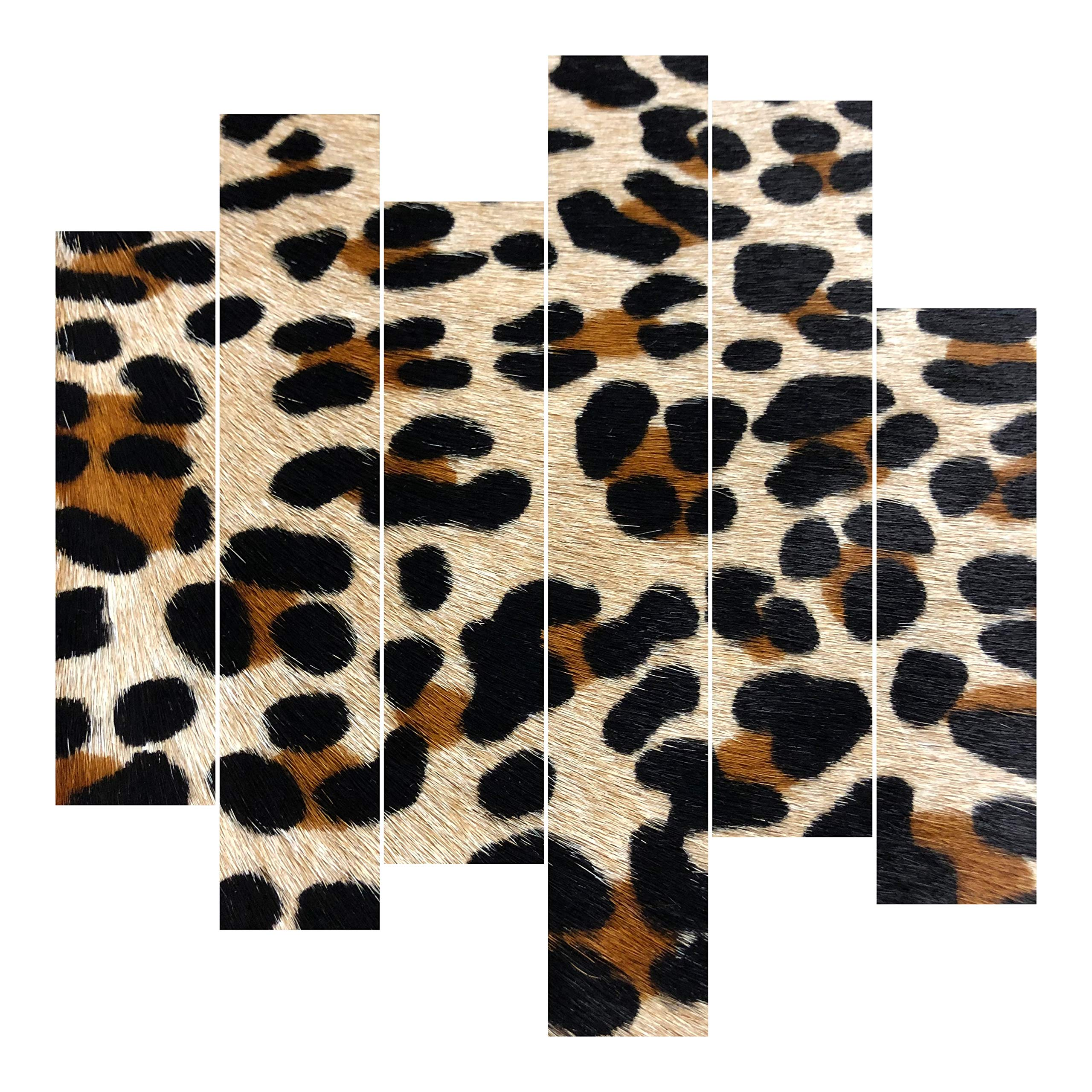 Leopard Printed Cowhide Leather, Custom Cuts, Hair On Hide, Custom Cuts for Bags, Wallets, Earrings, Upholstery (12x24 inch)