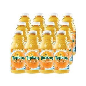 Tropicana Orange Juice, 32 oz Bottles, 12 Count