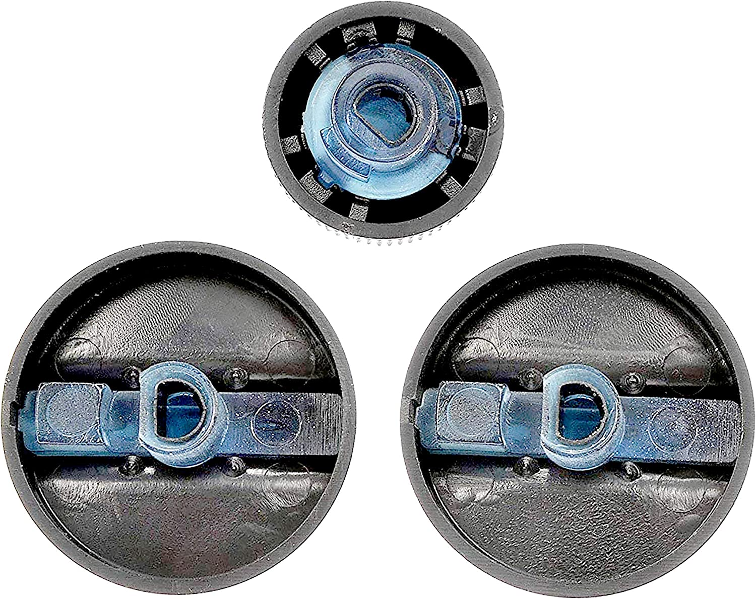 APDTY 117374 AC Heat HVAC Control Head Replacement Control Knob Set For 1994-1997 Dodge Ram 1500 2500 3500 Pickup Includes 2 HVAC Control Knobs = 04882482, 1 Blower Speed Control Knob = 04882511