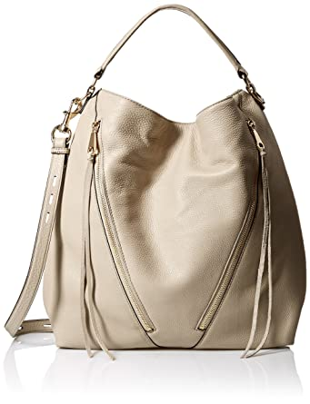 Amazon.com: Rebecca Minkoff Moto Hobo, Khaki: Clothing