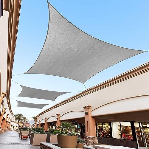 Royal Shade 20 x 23 Grey Custom Size Order to Make Sun Shade Sail RTAPR0810 Canopy Mesh UV Block Rectangle- Commercial Standard Heavy Duty – 200GSM – 5 Years Warranty