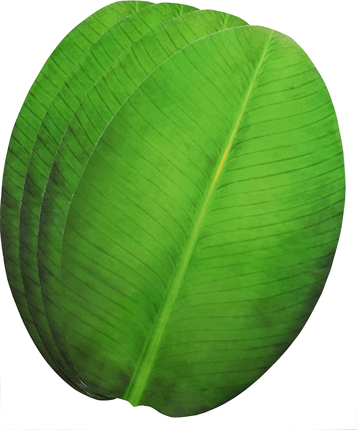 Exquisite Laminated Paper Sheets Banana Leaf Shape Table Placement//Dinning Mat Set of 4 Pcs//Diwali//Christmas