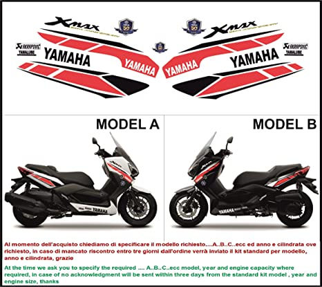 18be954593f90 Kit adesivi decal stikers YAMAHA XMAX 125 250 400 50 ANNIVERSARY ...