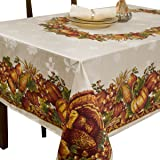 Benson Mills Harvest Splendor Engineered Printed Fabric Tablecloth, 60-Inch-by-104 Inch