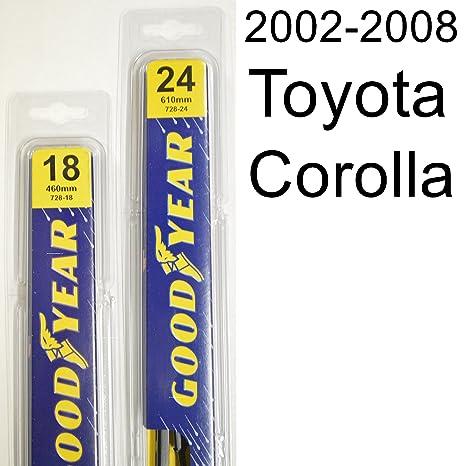 What Size Windshield Wipers >> Amazon Com Toyota Corolla 2002 2008 Wiper Blade Kit Set