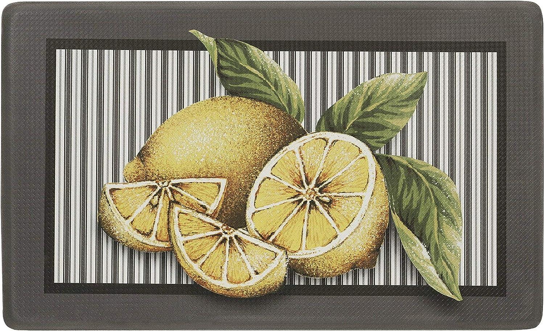 Ben/&Jonah 309271927376 Simple Elegance Anti-Fatigue Mat 18 W x 30 L-Lemon Drop Multi