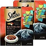 シーバ (Sheba) デュオ 成猫用 鶏ささみ味と海のセレクション 240g(20g×12袋入り)×2個セット [キャットフード・ドライ]