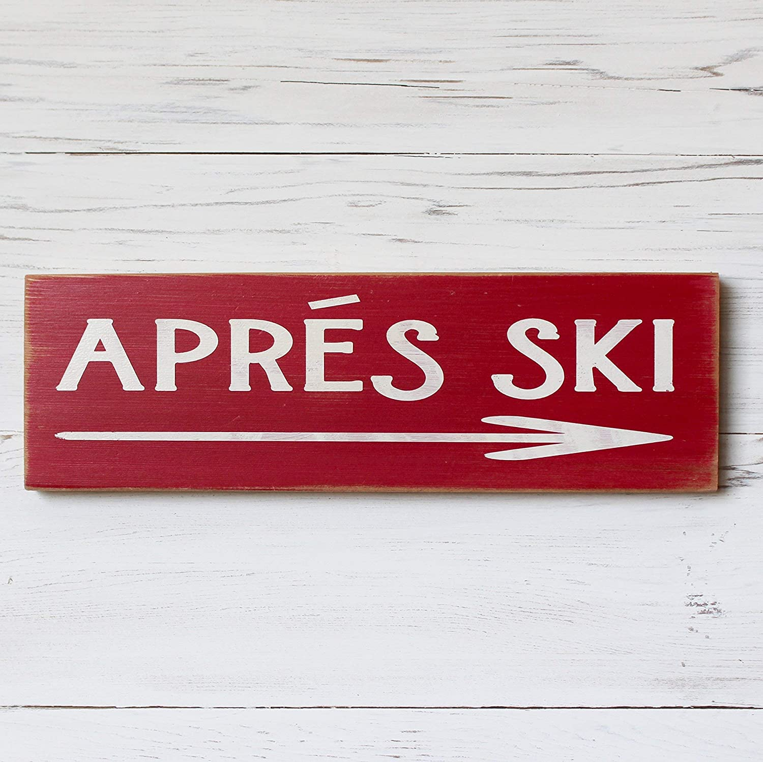Apres Ski Rustic Cabin Winter Home Decor Wood Sign