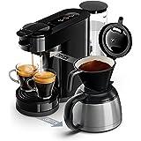 Philips HD6592/61 Machine à café SENSEO Switch 2 en 1 Noir (machine à dosettes + machine à café filtre)
