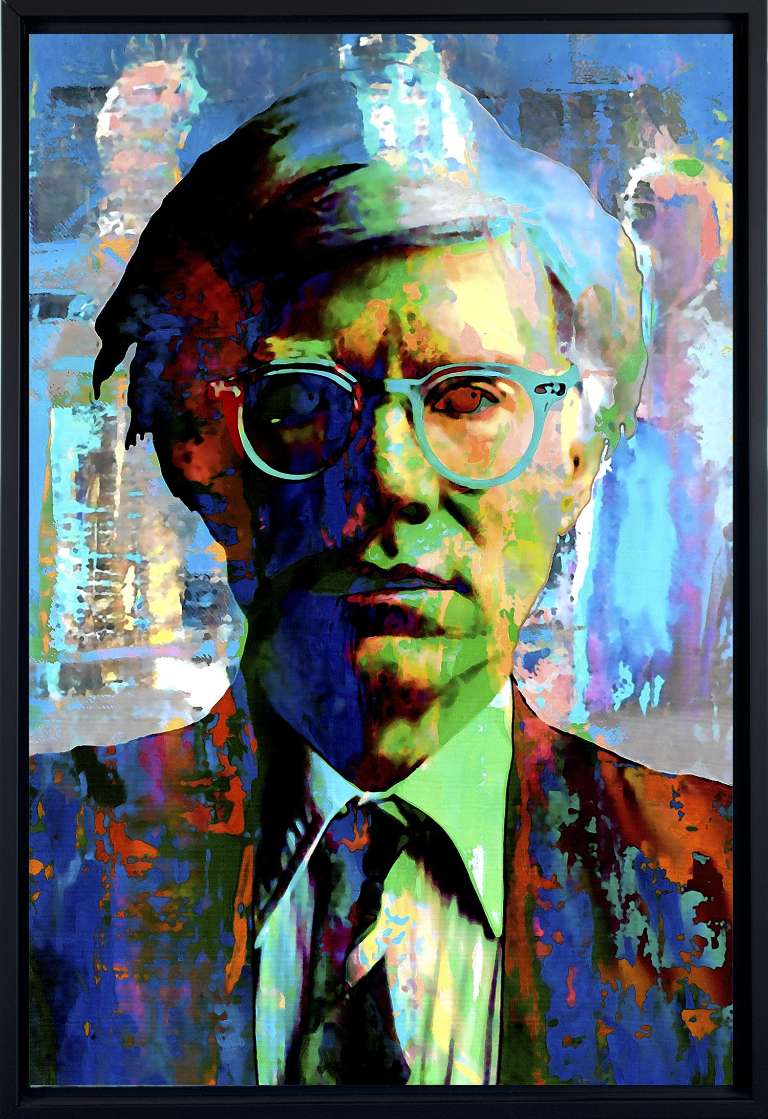 Andy Warhol art prints wall decor - framed canvas art by Mark Lewis Art - fwm - Living descendant of Cy Young the baseball legend by Mark Lewis Art
