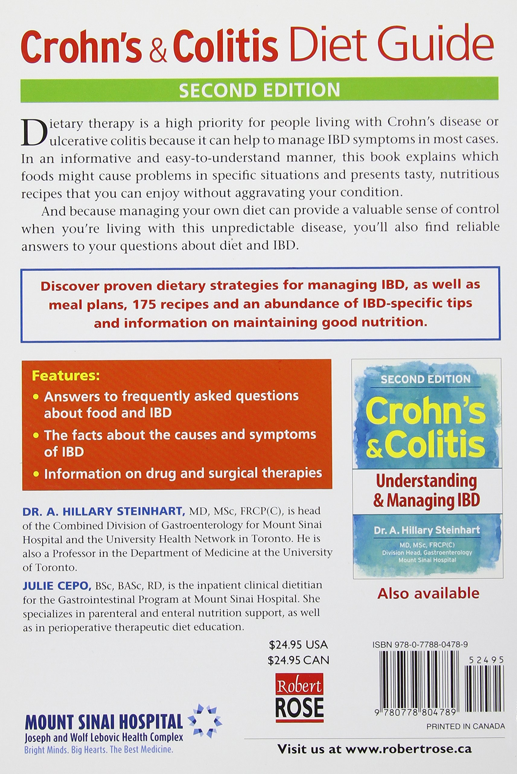 Crohn's and Colitis Diet Guide: Includes 175 Recipes: Dr