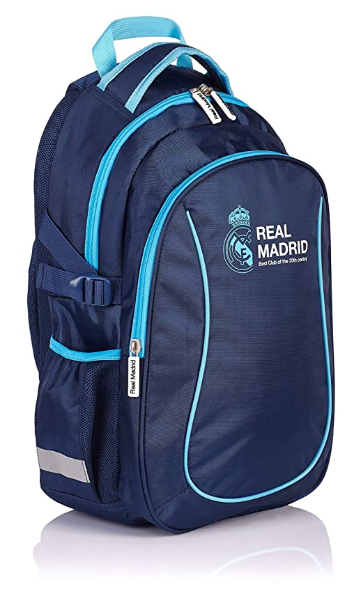 Real Madrid Madrid 3 Mochila Tipo Casual, 46 cm, 22 Liters, Azul (