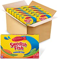 Swedish Fish Assorted Soft & Chewy Candy, 3.5-Ounce Boxes (Pack of 12)