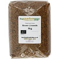 Buy Whole Foods Organic Linseed Brown 1 Kg