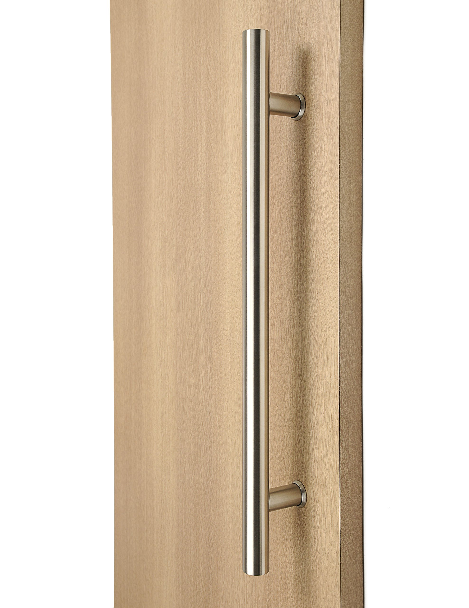Modern & Contemporary Round Bar / Ladder / H-shape Style 1219mm / 48 inches Push-pull Stainless-steel Door Handle – Satin Brushed Finish