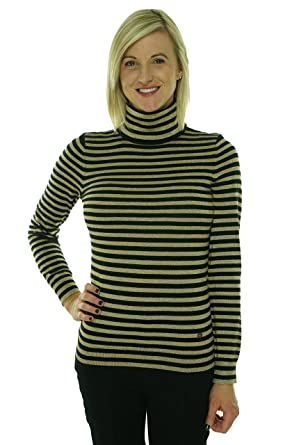 Amazon.com: Ralph Lauren Women's Petite Size Metallic-Striped ...