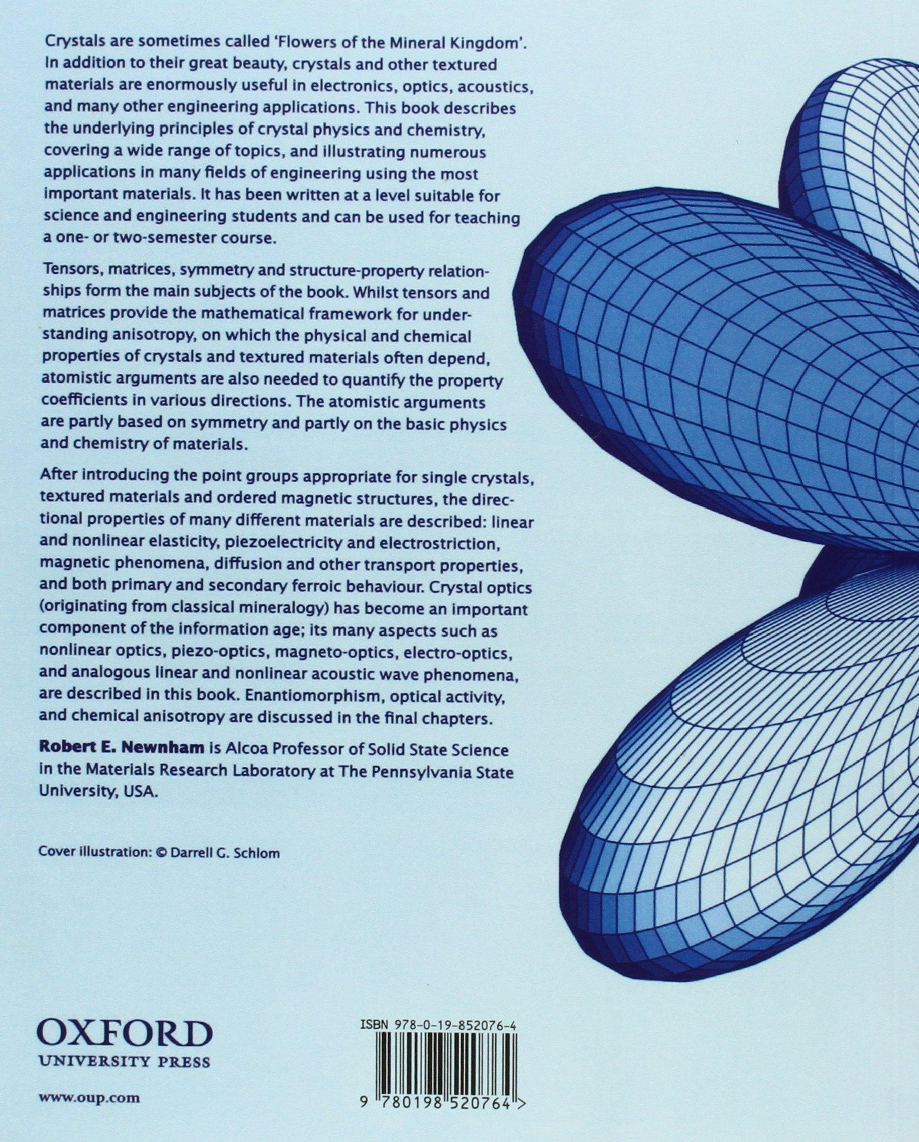 Properties of Materials: Anisotropy, Symmetry, Structure /(Inglés/) Pasta  blanda