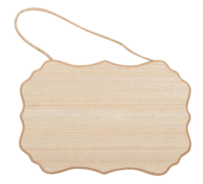 Placa de madera sin terminar - 6 unidades de placa colgante ...