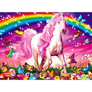 Ravensburger Horse Dreams - 100 Piece Glitter Jigsaw Puzzle for Kids – Every Piece is Unique, Pieces Fit Together Perfectly