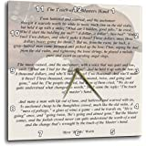 """3dRose dpp_157881_2 The Touch of the Masters Hand Inspirational Poem Penned by Myra Brooks Welch Violin Background Wall Clock, 13 by 13"""""""