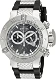 Invicta Men's Quartz Watch with Blue Dial Chronograph Display and Blue Plastic Strap 5515