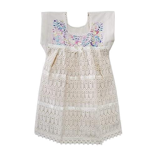 Amazon.com: Vestido BEBE 4 años. MANTA Y GUIPUR. Color Beige ...