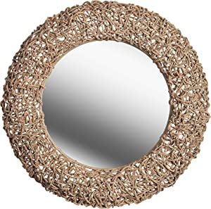 Kenroy Home Kenroy 60203 Transitional Wall Mirror from Seagrass Collection in Bronze/Dark Finish, 33