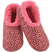 Slumbies! Womens Slippers - House Slippers for Women - Fuzzy Slippers - Furry Slippers for Women - Leopard Print
