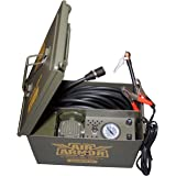 12 Volt Air Compressor, Military Inspired Portable 12v Air Compressor Tire Care and Repair Kit Packed In A Sturdy Ammo Can. Perfect for Jeep, 4 x 4, Off Road Tires