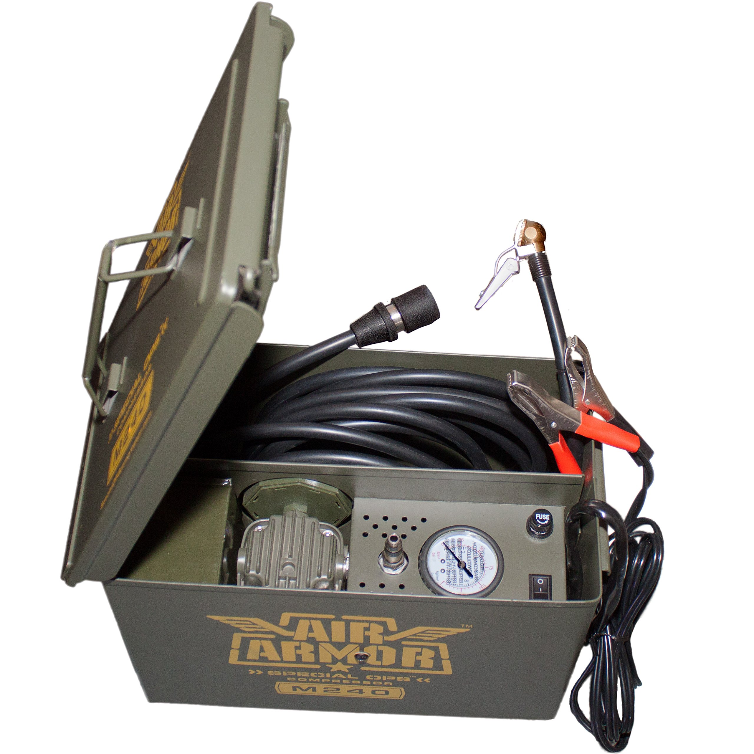 Air Armor M240 Portable 12-Volt Tactical Air Compressor Kit Tire Inflator by Air Armor (Image #1)