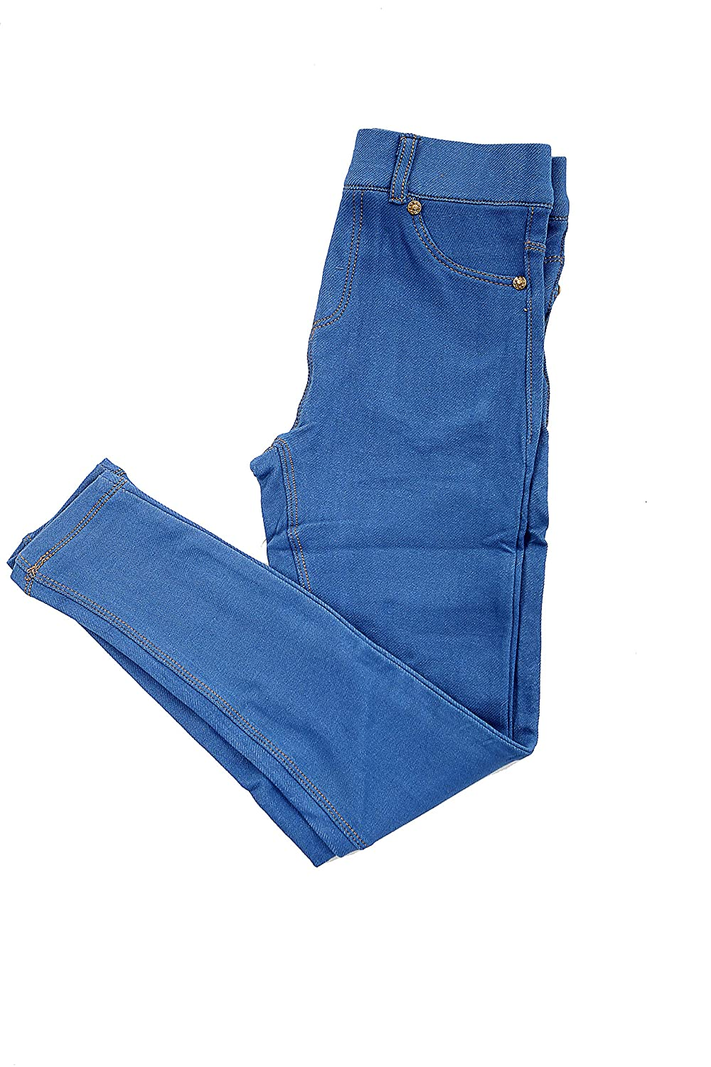 Dance Stretch Teen Royal Blue Miss Chief Girls Plain Legging Full Length Ages 2 3 4 5 6 7 8 9 10 11 12 13 + Adult Sizes