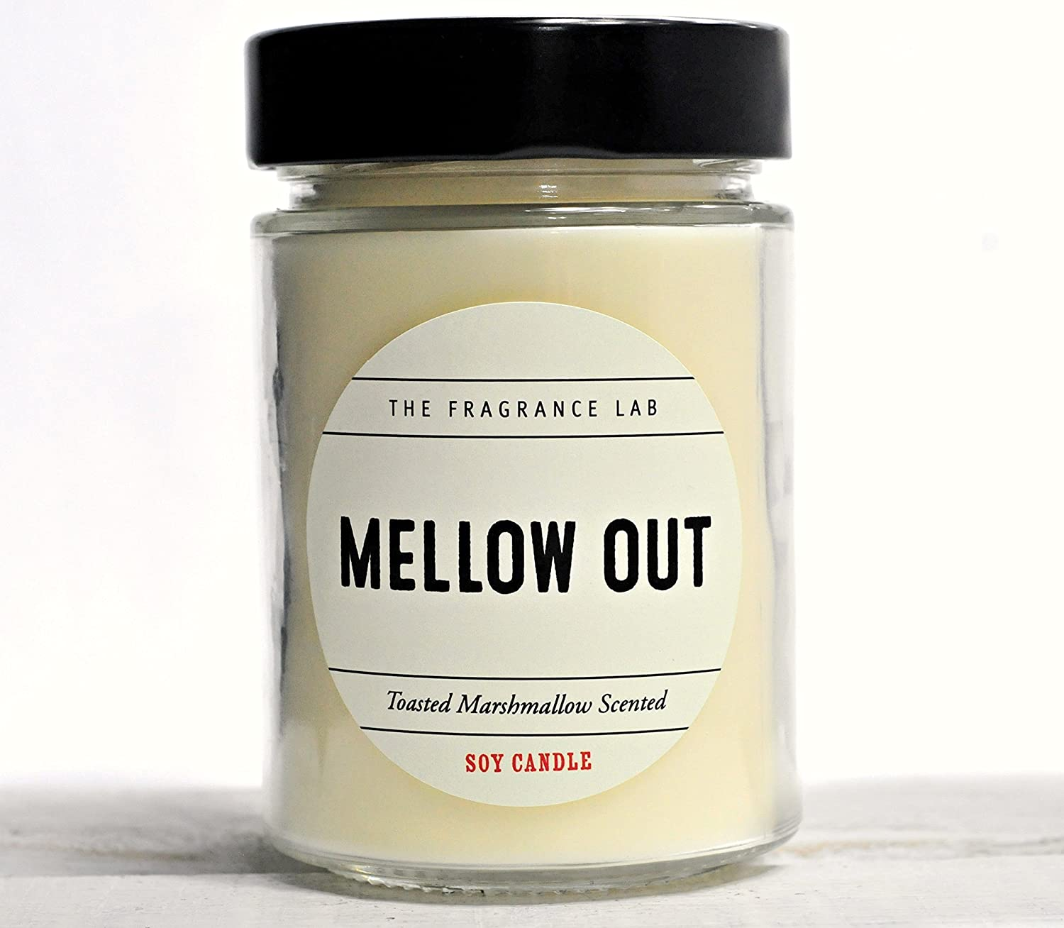 Luxury Soy Candles -Mellow Out Toasted Marshmallow Scented | The Fragrance Lab