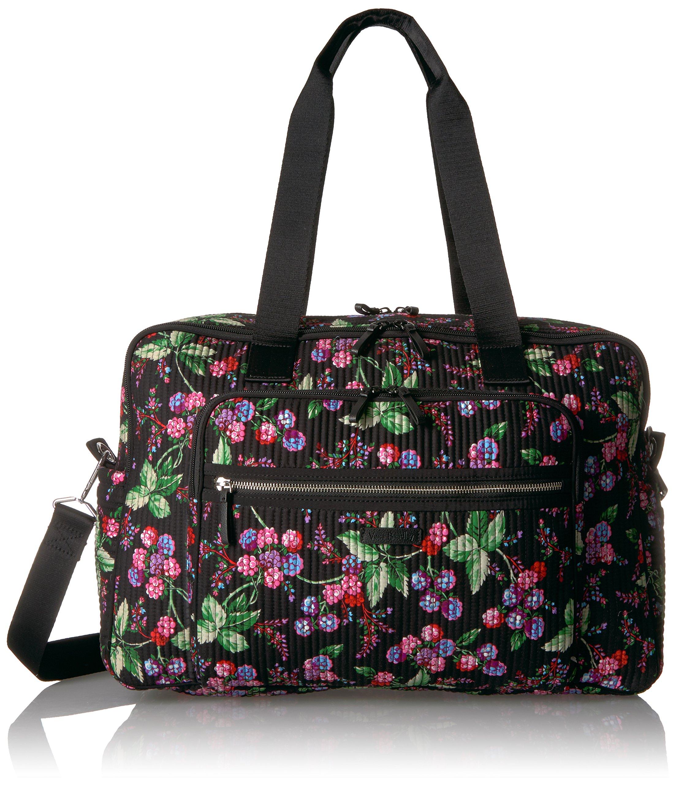 Vera Bradley Women's Iconic Deluxe Weekender Travel Bag-Signature
