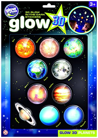 the original glowstars company b8101 glow 3 d stickers planets