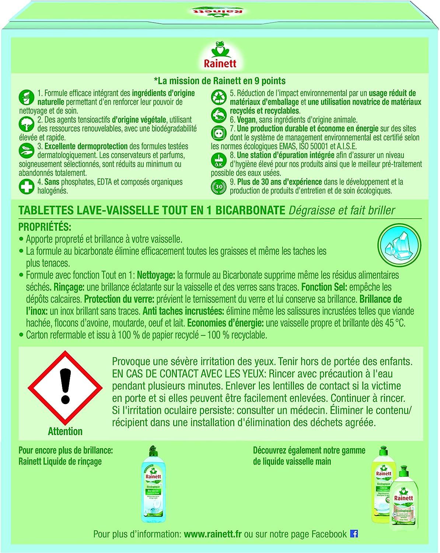 RAINETT 50 Tablettes Lave vaisselle - Tout en 1 - Ecologique: Amazon.es: Alimentación y bebidas