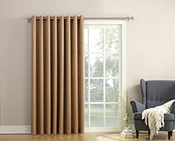 Amazon Com Sun Zero Barrow Energy Efficient Patio Door Curtain
