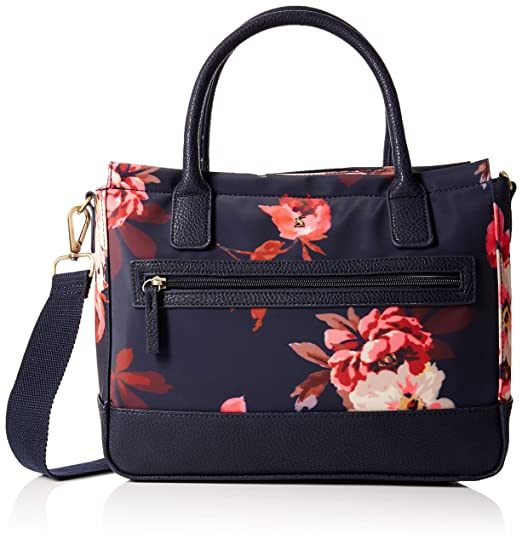 Joules Women s Day To Day Canvas Cross-Body Bag Blue (Navy Bircham Bloom) 8ae7c4224