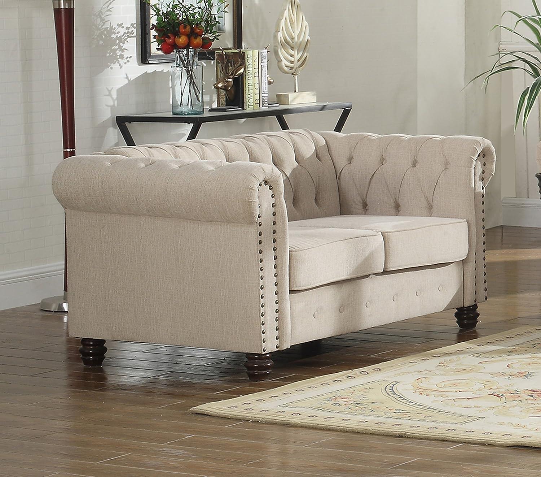 Amazon Com U S Livings Lilyana Modern Living Room Chesterfield