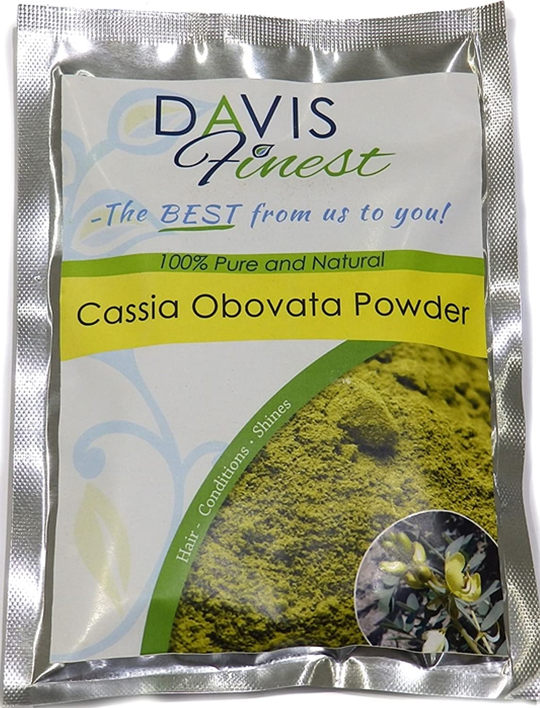 Davis mejores orgánicos Cassia obovata Neutral Henna Polvo–Química libre Natural Rubio Enhancer pelo brillante color Dye y acondicionado hojas sedoso brillante Shining Hair (100G)