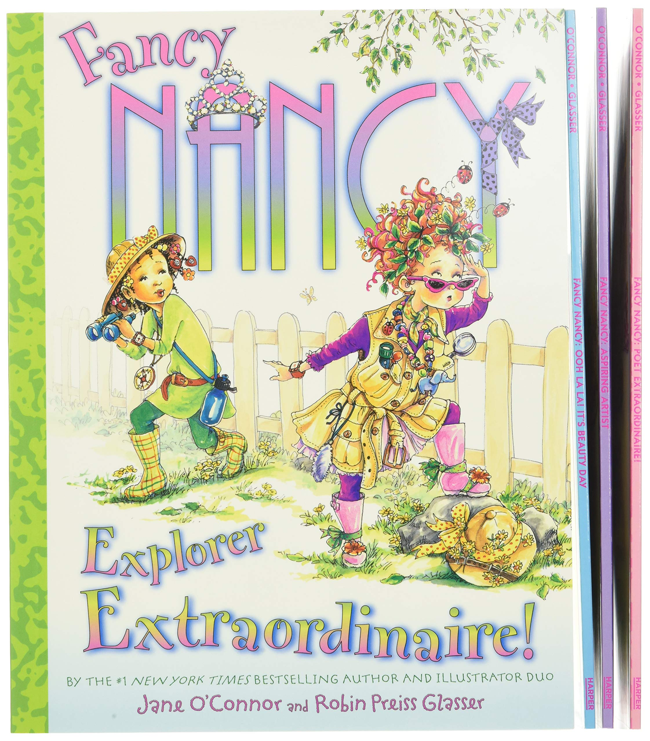 Fancy Nancy The Wonderful World Of Fancy Nancy 4 Books In 1 Box Set O Connor Jane Glasser Robin Preiss 9780062210609 Amazon Com Books