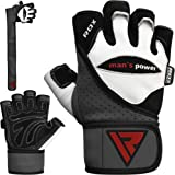 RDX Leather Bodybuilding Gym Weight Lifting Gloves