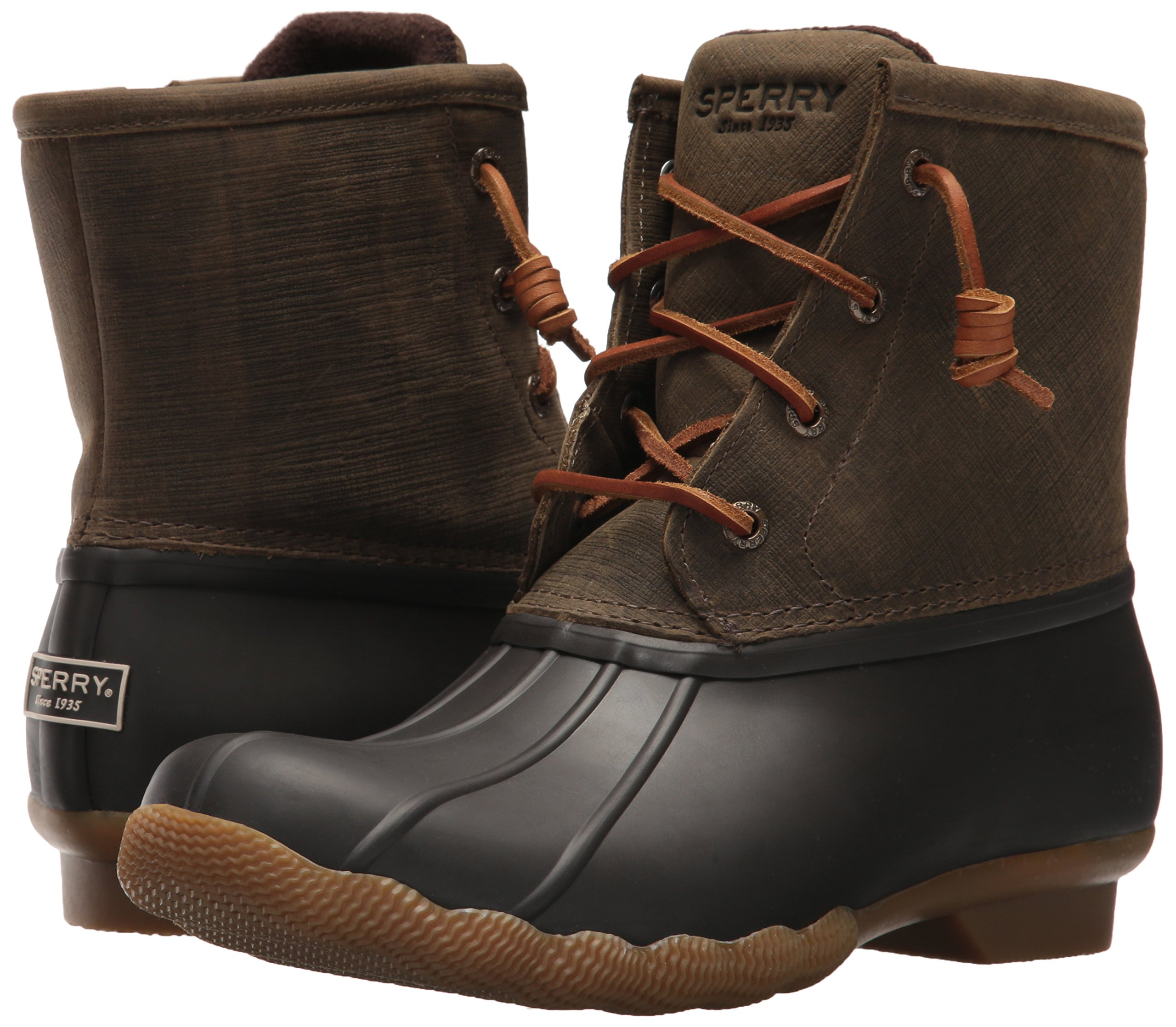 Sperry Top-Sider Women's Saltwater Rain Boot, Brown/Olive, 11 Medium US by Sperry Top-Sider (Image #6)
