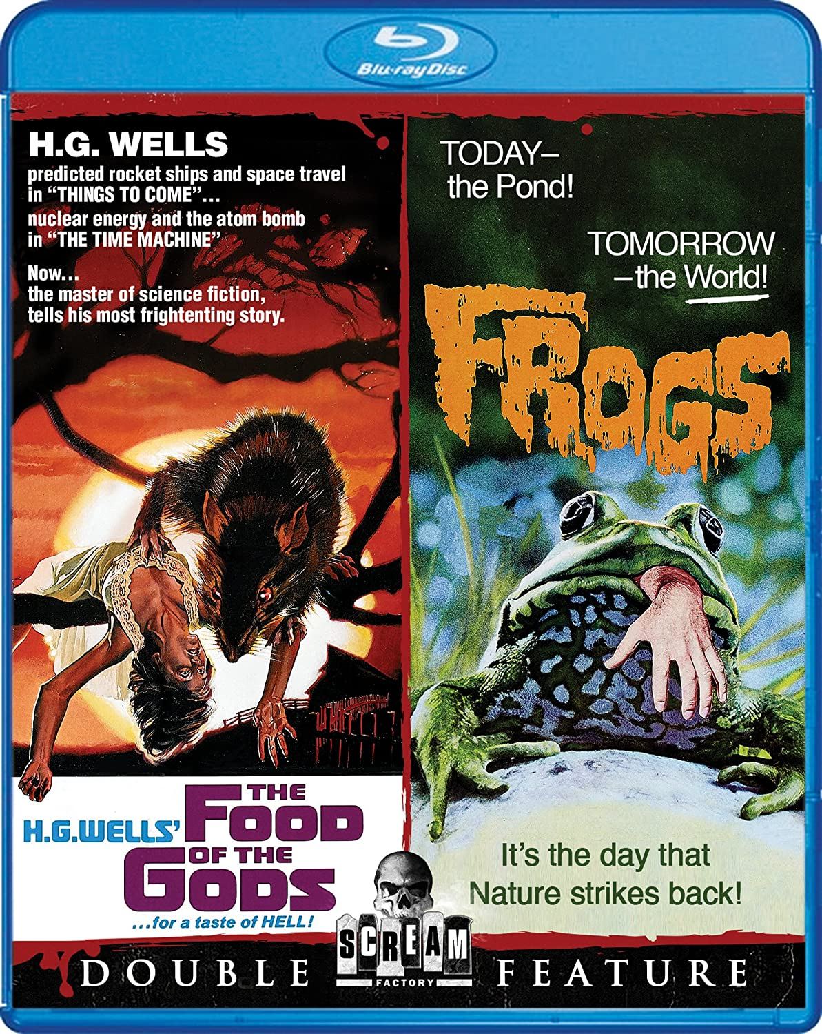 Amazon Com The Food Of The Gods Frogs Double Feature Blu Ray