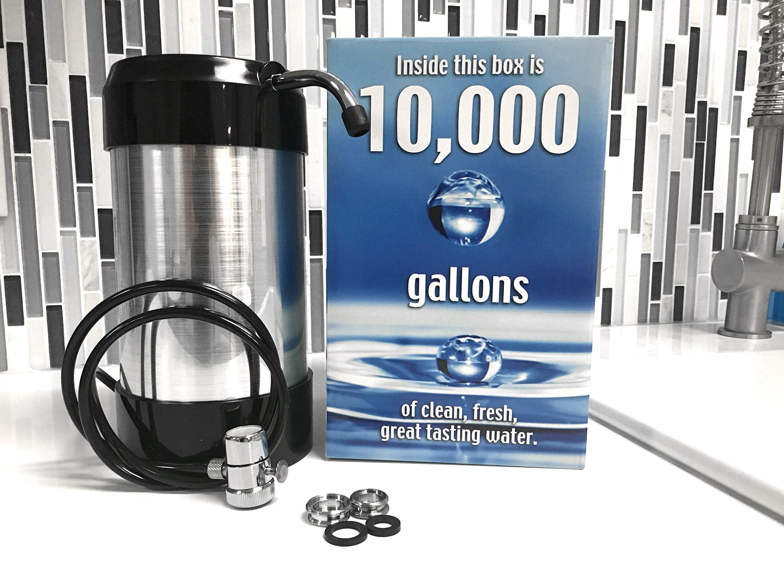 Premium Countertop Water Filtration System Easy Install No