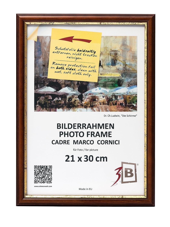 3-B Bilderrahmen BARI RUSTIKAL - dunkel braun - 21x30 cm ...
