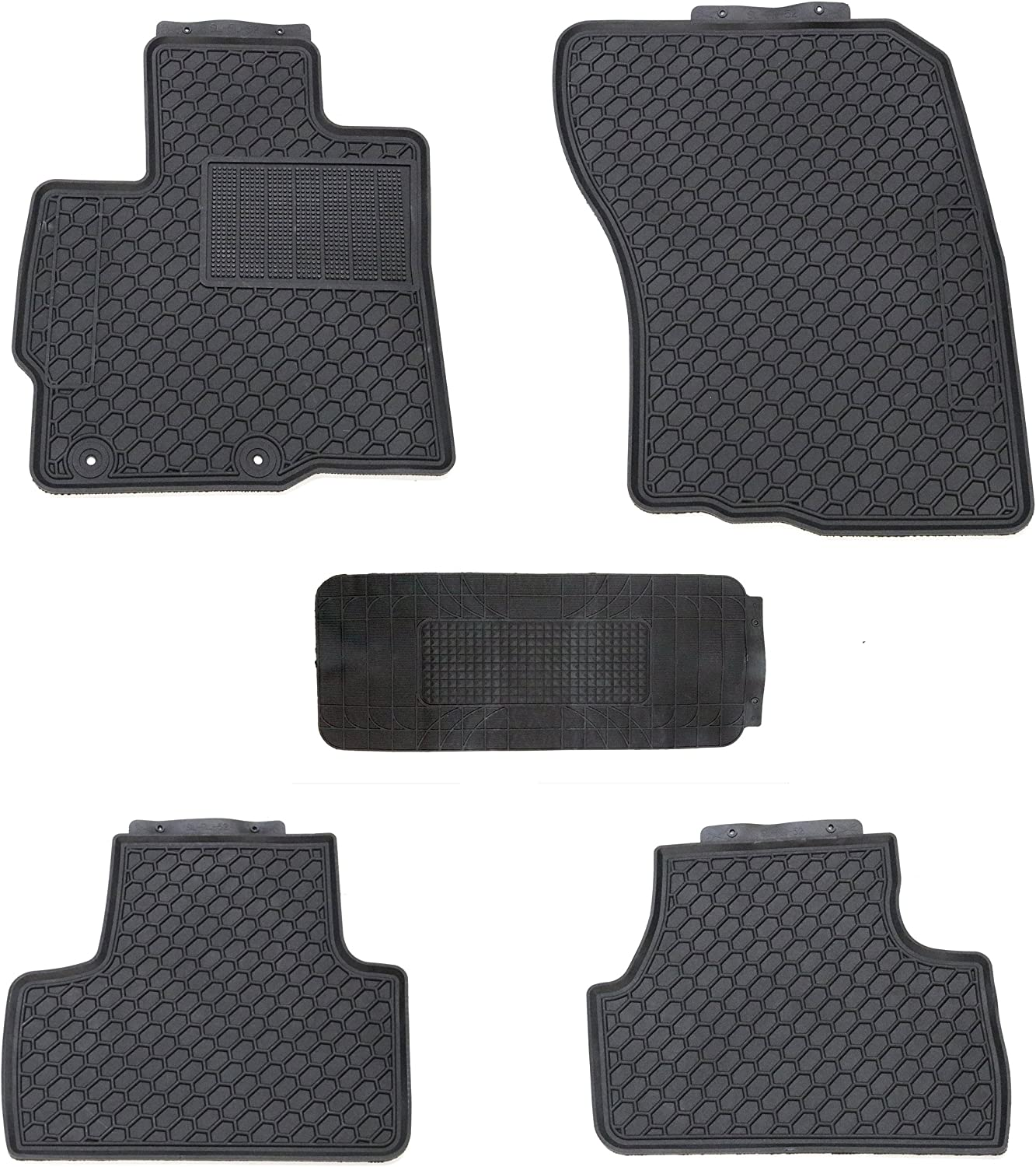 Black AutoTech Zone Custom Fit Heavy Duty Custom Fit Car Floor Mat for 2014-2018 Mitsubishi Outlander SUV All Weather Protector 4 piece set