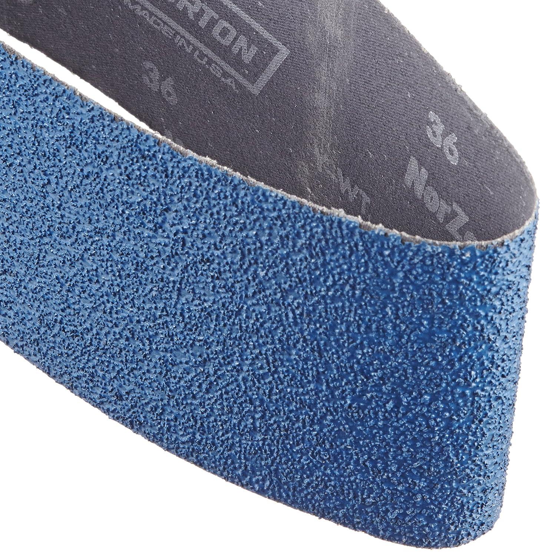 Norton 3X High Performance Portable Sanding Belt, Zirconia Alumina, 24' Length x 4' Width, Grit 36 Extra Coarse  (Pack of 2) 24 Length x 4 Width SAIX7