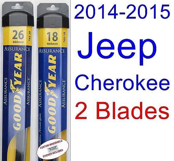 2014 - 2015 Jeep Cherokee hoja de limpiaparabrisas de repuesto Set/Kit (Goodyear limpiaparabrisas blades-assurance): Amazon.es: Coche y moto